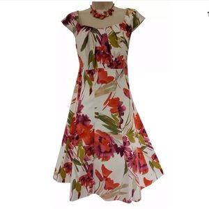 22W 3X▪️WATERCOLOR FLORAL PRINT DRESS Plus Size